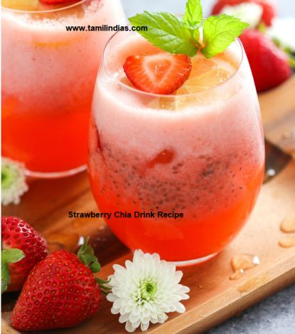 Strawberry Chia Drink Recipe